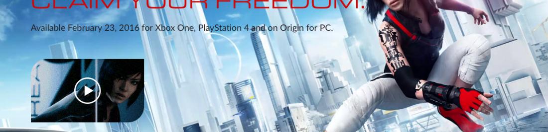 EA anuncia el lanzamiento de Mirror's Edge Catalyst