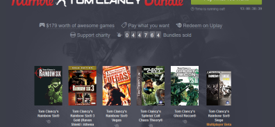 Humble Bundle Tom Clancy FTW! [PACKS GLORIOSOS]