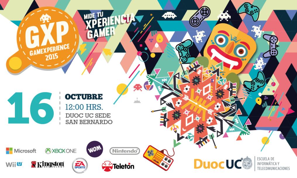 Si no tienes planes este viernes podrias asistir al evento GameXperience! 2015 [San Bernardo]