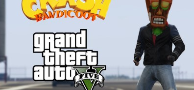 Crash Bandicoot conoce a GTA V [VIDEOS LOQUITOS]