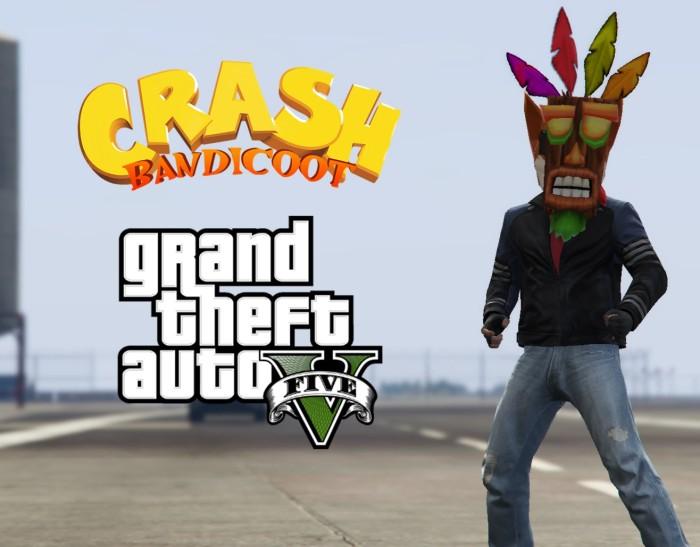 Crash Bandicoot conoce a GTA V [VIDEOS LOQUITOS]