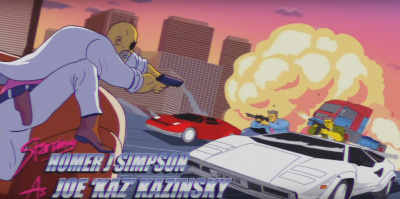 SIMPSONS Couch Gag Kung Fury
