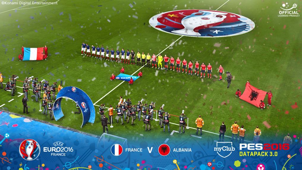 Data Pack gratuito para PES 2016 agrega la UEFA EURO 2016