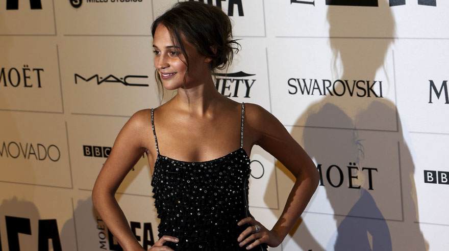 Alicia Vikander arrives for the British Independent Film Awards at the Old Billingsgate Market in London, Britain December 6, 2015. REUTERS/Luke MacGregor