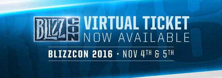 Asiste a la Blizzcon 2016 desde cualquier lugar con el boleto virtual