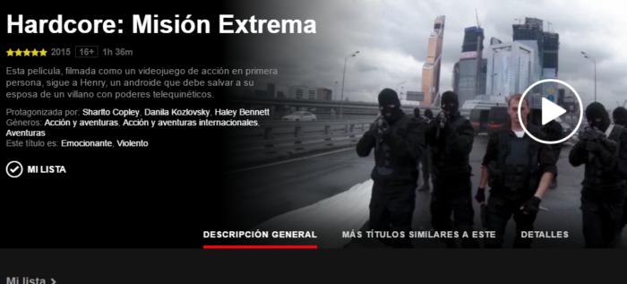 Hardcore Henry llega a Netflix Latam