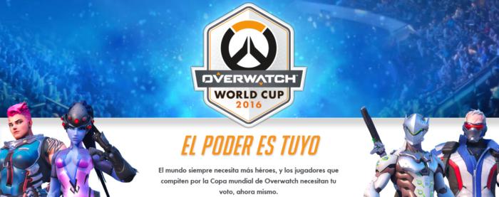 Arrancan las votaciones para la Copa Mundial de Overwatch