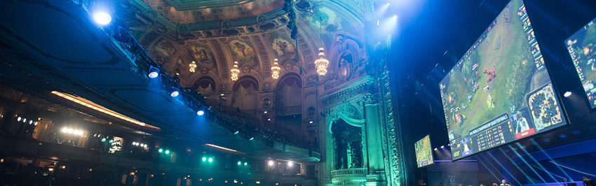 Samsung Galaxy versus Cloud9 at the 2016 World Championship - Quarterfinals at The Chicago Theatre in Chicago, Illinois, USA on 13 October 2016.