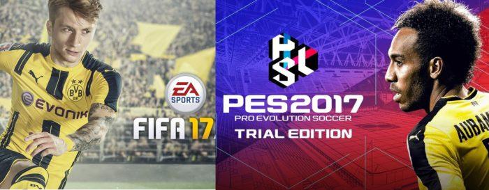 Fin de semana gratis de FIFA 17 y Trial Edition de PES 2017
