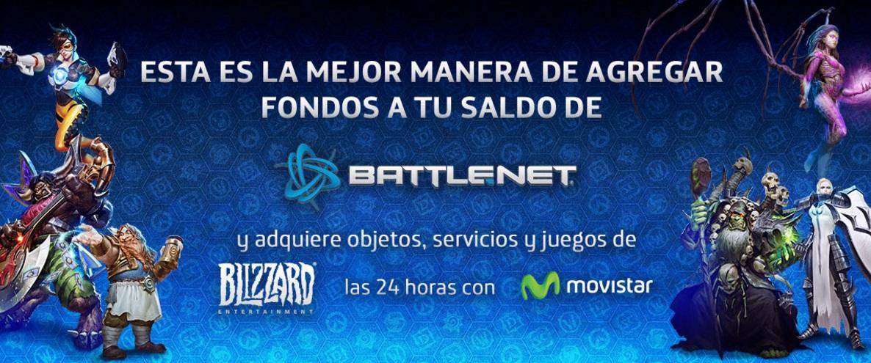 Ahora podrás adquirir dinero virtual en Battle.net con cargo a tu saldo o boleta Movistar