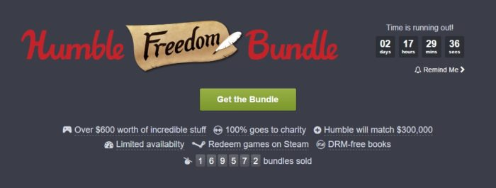 Cacharon lo bacán que está el Freedom Humble Bundle