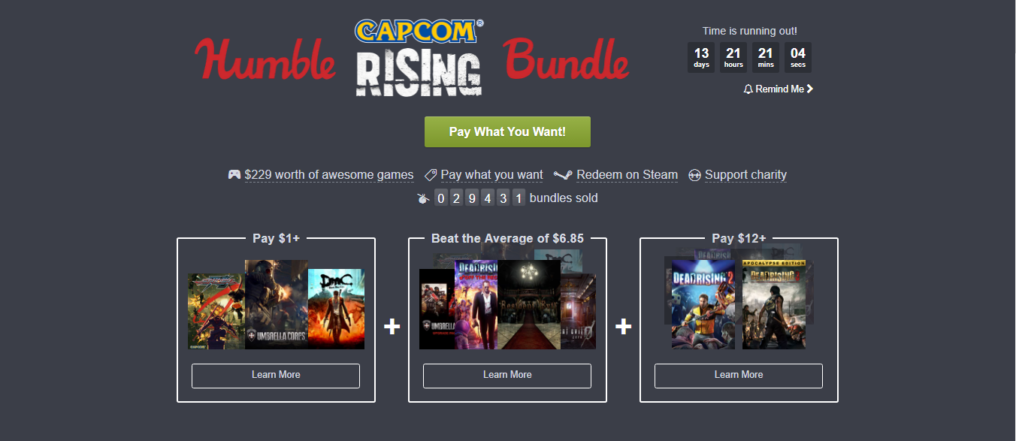 Humble CAPCOM Rising Bundle, zombies everywhere!
