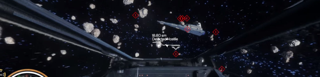 Este es un concepto de lo que pudo haber sido un shooter espacial de Star Wars