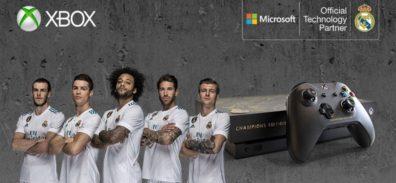 Xbox y el Real Madrid crean consola Xbox One X personalizada para un afortunado fan