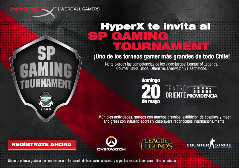 HyperX te invita al SP Gaming Tournament este domingo