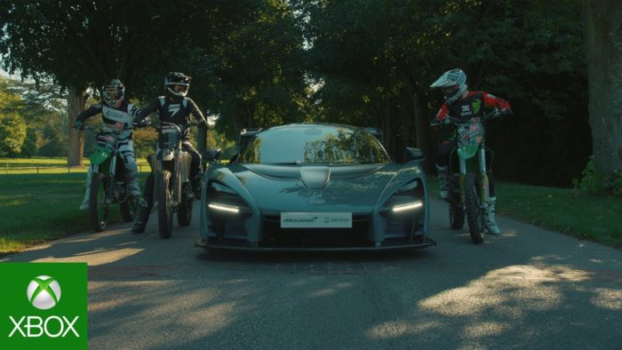 Forza Horizon 4: The McLaren Senna vs Motocross Showcase