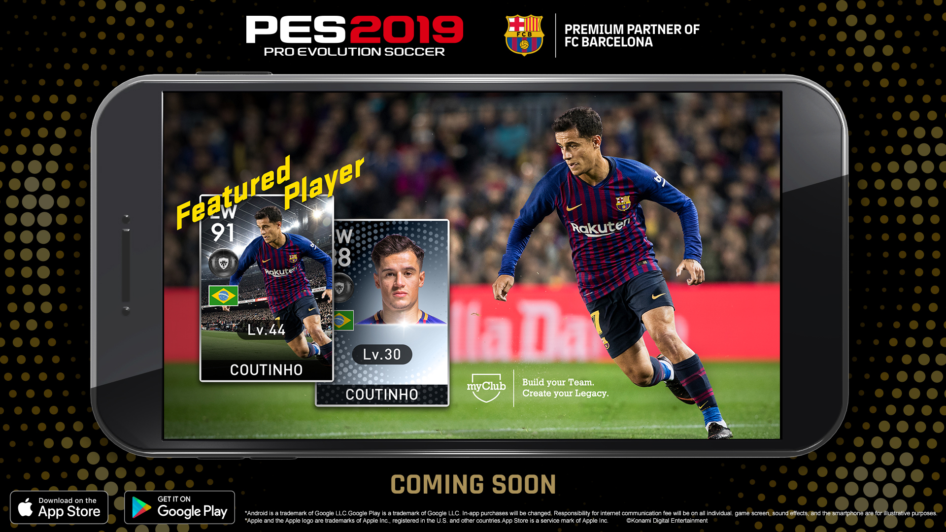 Konami anuncia PES 2019 MOBILE con UNREAL ENGINE 4