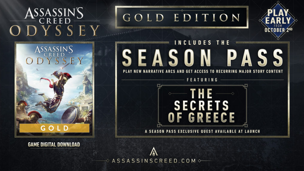 Assassin's Creed Odyssey ya disponible en su versión GOLD