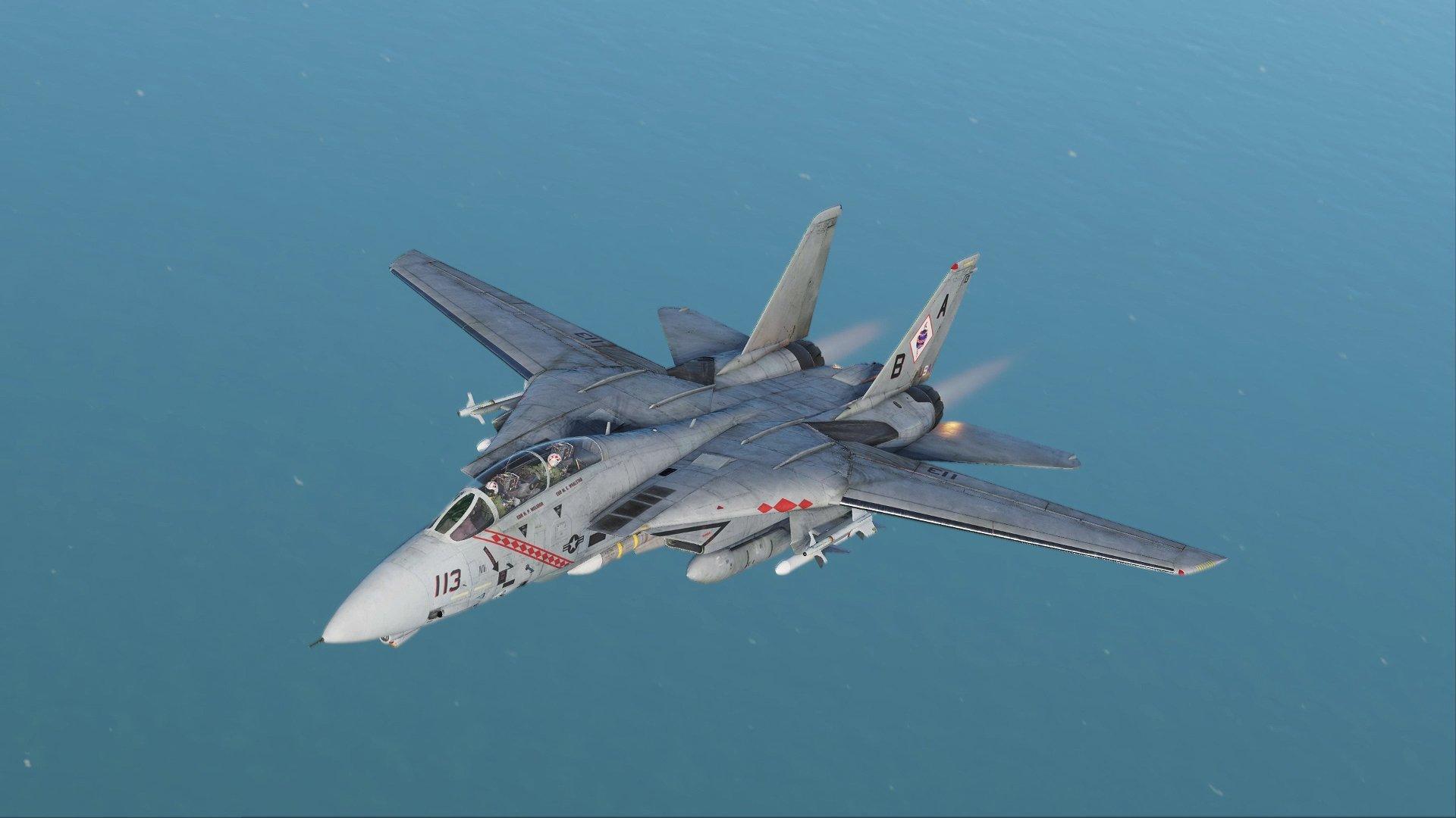Uno de los aviones más famosos el F-14 a todo detalle en el simulador DCS