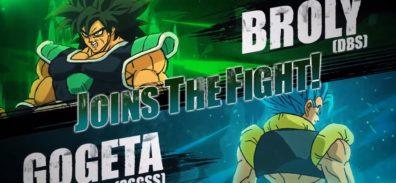 Broly y Gogeta llegarán a DRAGON BALL FighterZ