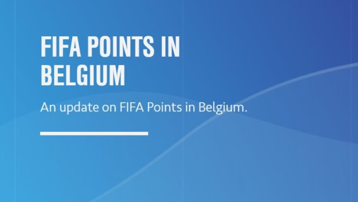 Electronic Arts deja de vender FIFA Points en Bélgica