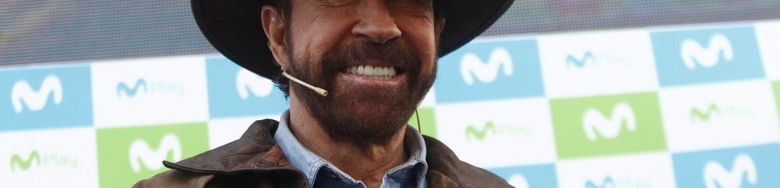 Chuck Norris realizó filmación en Plaza Italia para Movistar